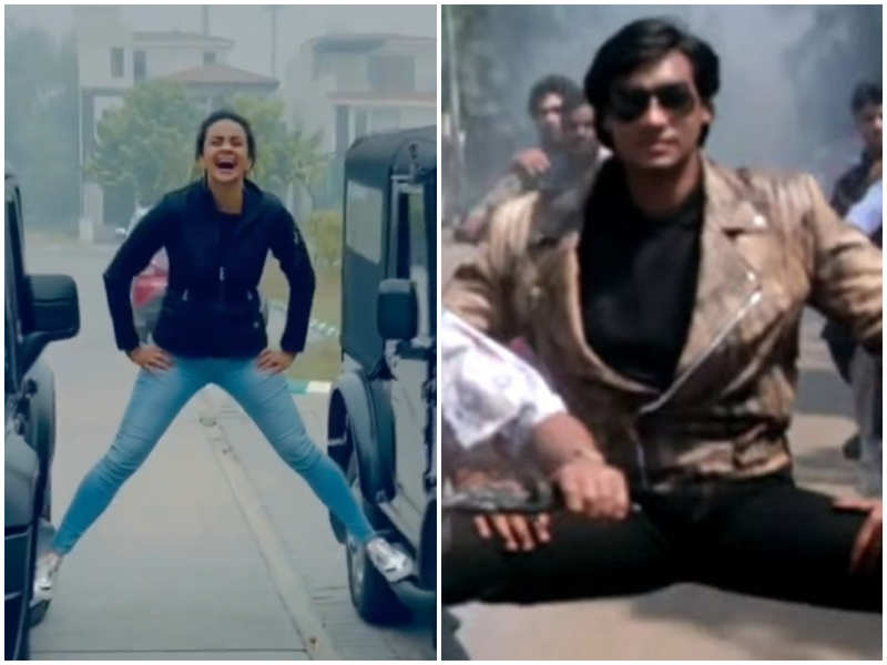 Gul Panag channels 'her inner Ajay Devgn' as she recreates a classic Bollywood stunt