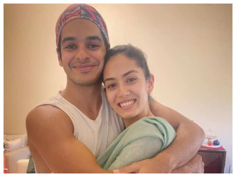 """Mira Rajput shares a sweet picture with brother-in-law Ishaan Khatter, the latter calls her """"Bhaabhidoll"""""""