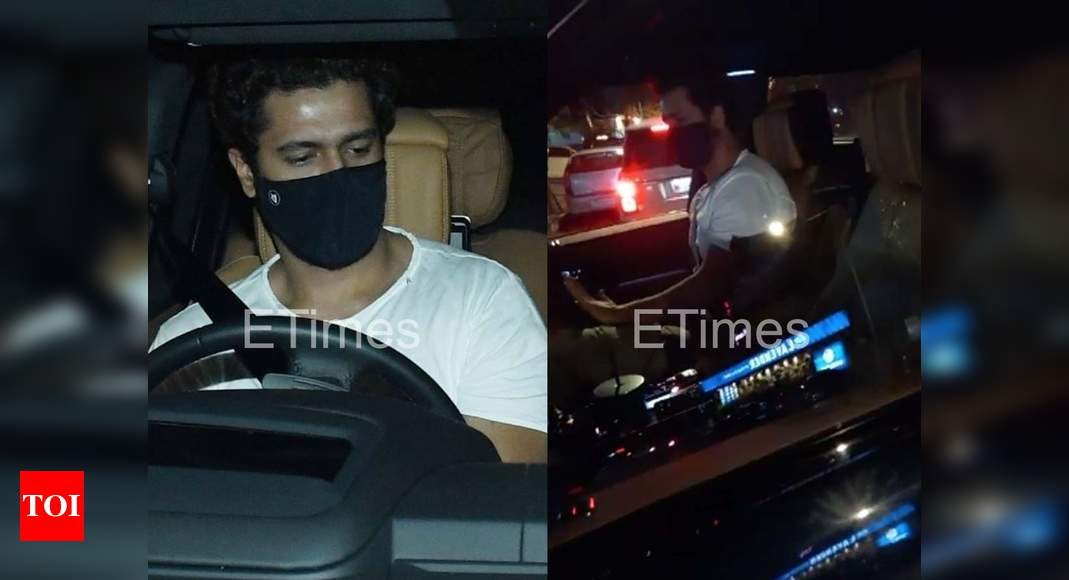 Exclusive! Watch: Vicky Kaushal driving out of Katrina Kaif's building – Times of India