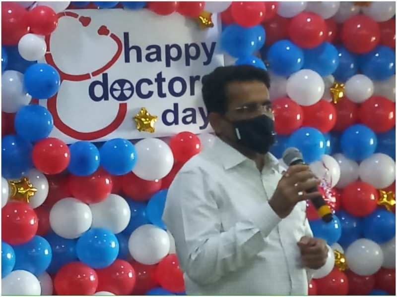 During the Doctor's Day celebration at Wockhardt Hospital, Mira Road