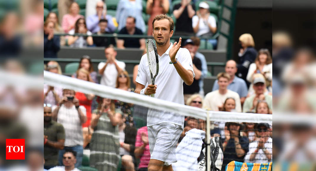 Wimbledon: Medvedev crushes teenager Alcaraz to reach third round   Tennis News – Times of India