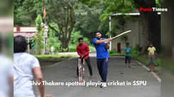 Shiv Thakare spotted playing cricket in Pune