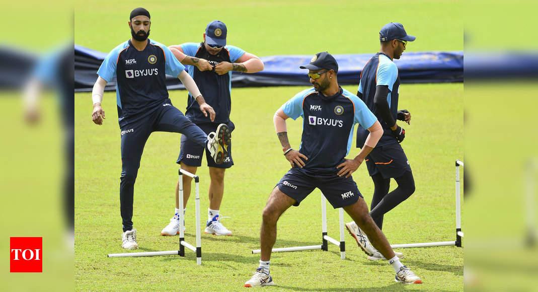Shikhar Dhawan-led Indian team starts training in Sri Lanka | Cricket News – Times of India