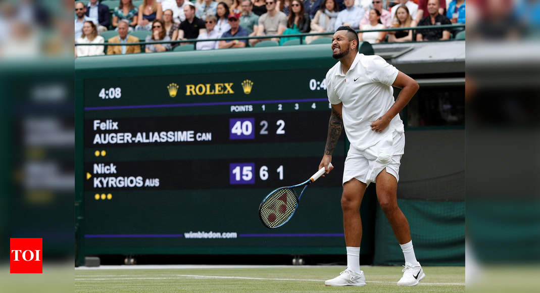 Injured Nick Kyrgios quits Wimbledon in third round   Tennis News – Times of India