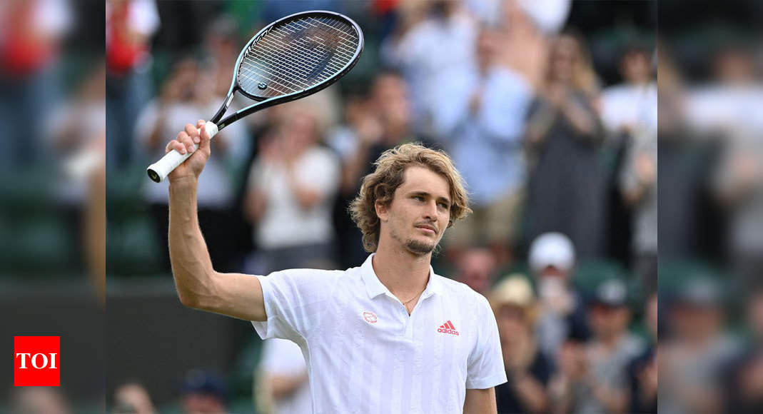 Alexander Zverev beats Taylor Fritz for fourth-round spot at Wimbledon   Tennis News – Times of India
