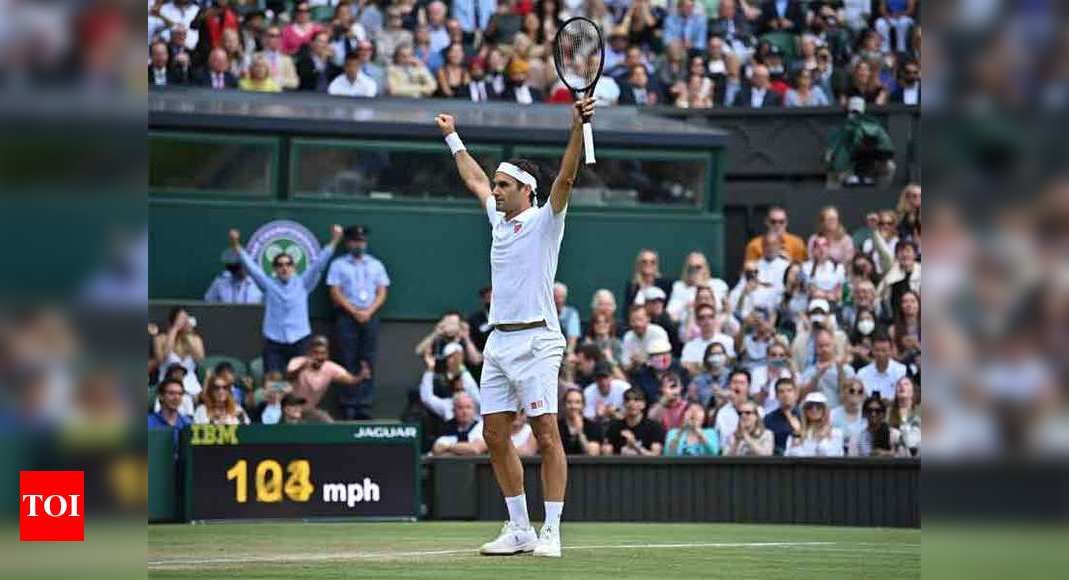 Roger Federer into Wimbledon fourth round for 18th time   Tennis News – Times of India