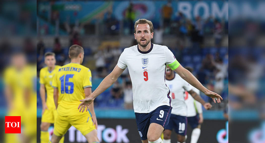 Euro 2020: Kane leads England past Ukraine and into semi-finals   Football News – Times of India
