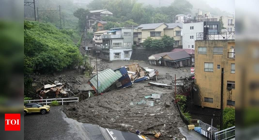 Two dead and 20 missing after landslide struck Japan city