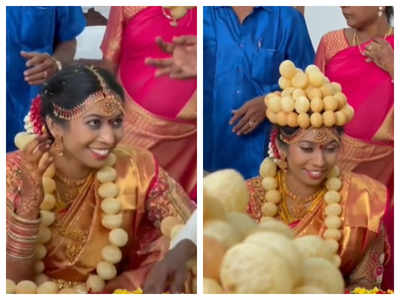 Watch: Bride wearing a golgappa crown is the most beautiful thing on internet today