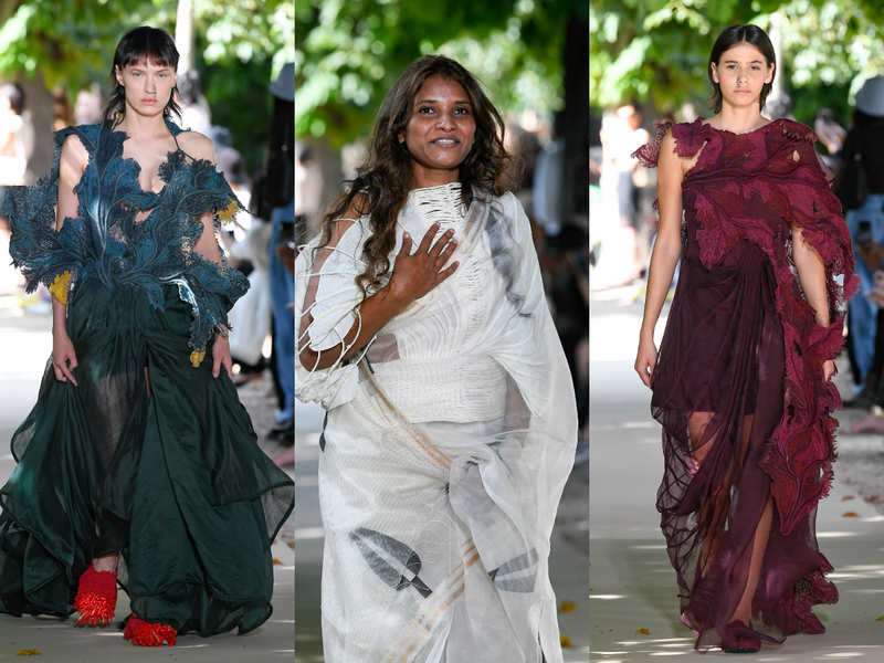 Designer Vaishali Shadangule impresses Paris with Indian weaves in her debut show