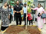 Filmmaker Rohit Shetty participates in a tree plantation drive