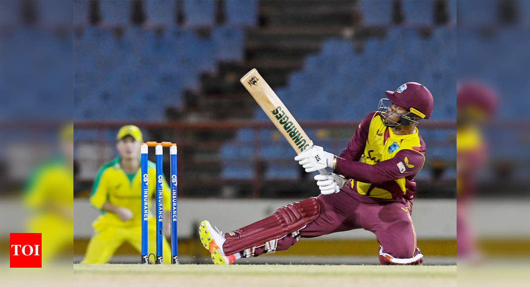 Shimron Hetmyer helps West Indies thump Australia for 2-0 lead in T20I series   Cricket News – Times of India