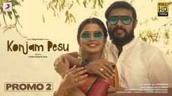 Watch Latest Tamil Official Music Video Song Promo 'Konjam Pesu' Sung by Pradeep Kumar And Nithyashree Venkataramanan  Featuring Sanchita Shetty And Sanjay