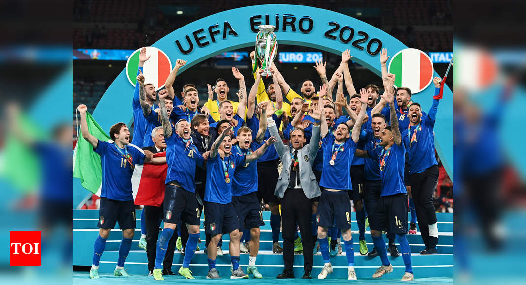 Euro 2020: Italy crowned European champions after shootout win over England | Football News – Times of India