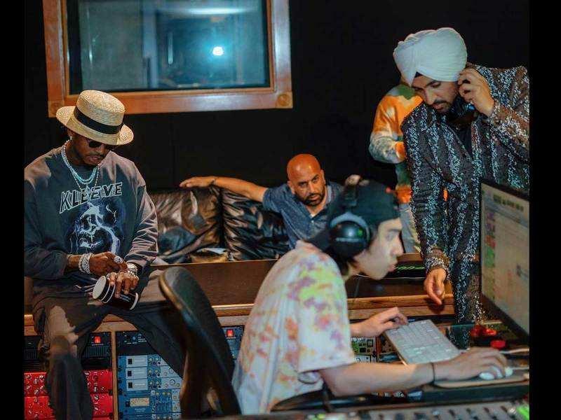 Diljit Dosanjh collaborates with Tanzanian artist Diamond Platnumz