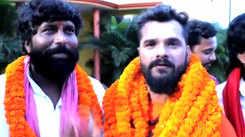 Khesari Lal Yadav visits 'Aashiqui' co-star Pappu Yadav to congratulate him