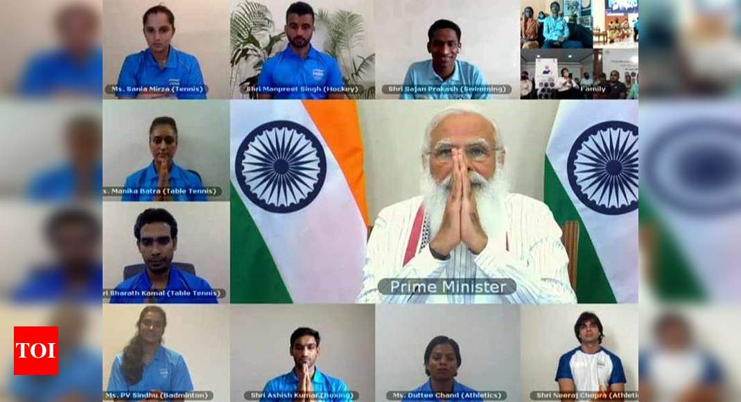PM Modi combines humour with sincerity in interactive session with India's Olympic-bound athletes | Tokyo Olympics News – Times of India