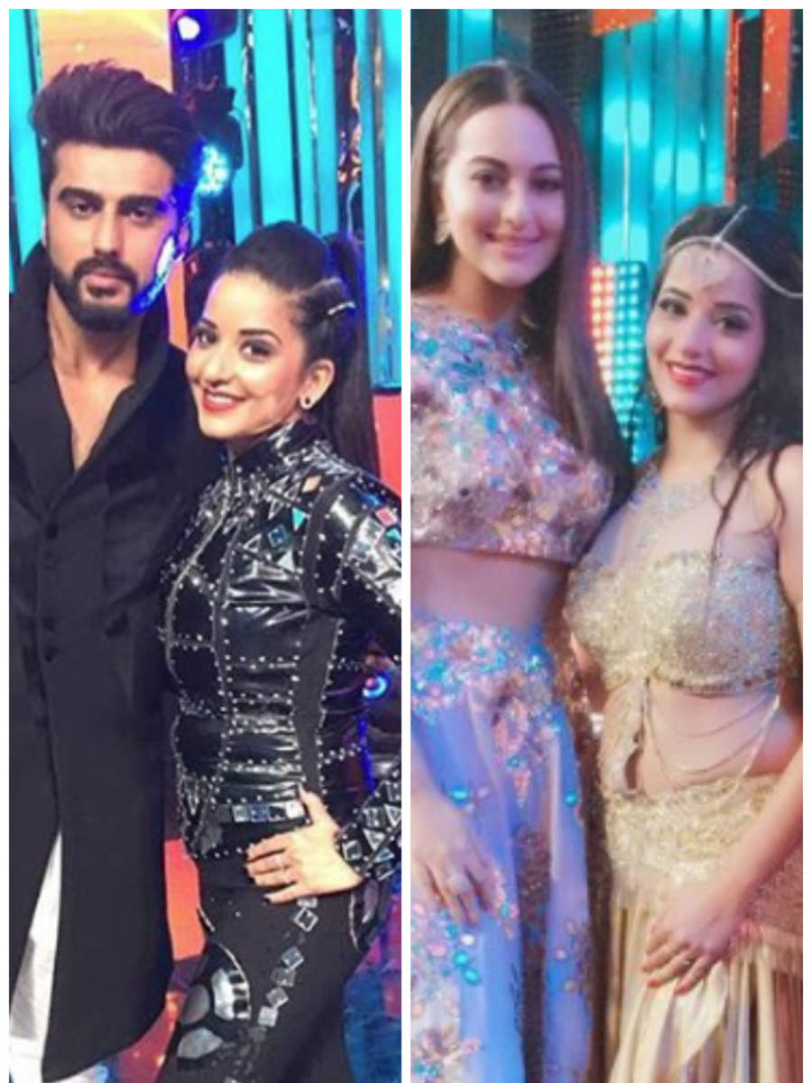 Times when Monalisa posed with the Bollywood celebs
