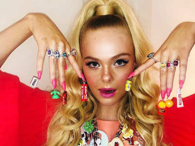 Celebrities adorned in quirky nail art designs