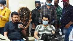 Director Shankar on the sets of Lingusamy's Ram Pothineni, Krithi Shetty starrer #RaPo19