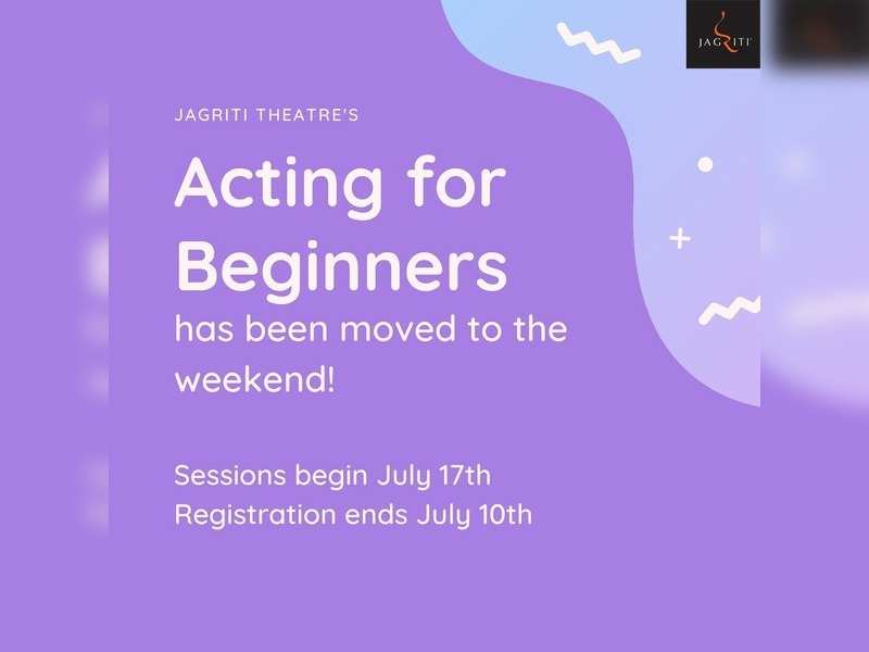 Jagriti Theatre kickstarts acting workshop for beginners
