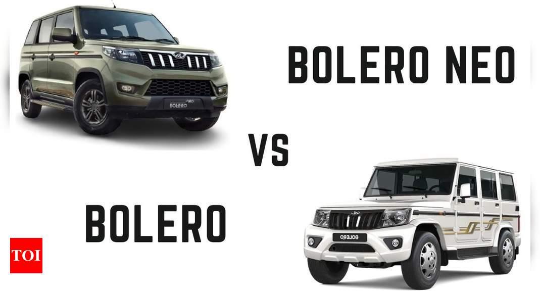 Mahindra Bolero vs Bolero Neo Review: Aiming co-existence with comparison, price, specifications | – Times of India