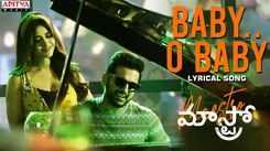 Telugu Song 2021: Latest Telugu Lyrical Video Song 'Baby Oh Baby' from 'Maestro' Ft. Nithiin and Nabha Natesh