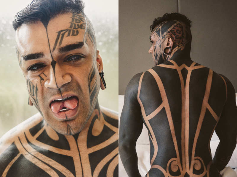 #Nationaltattooday: Meet Tattoographer Karan- The Indian who is world's first fully modified athlete