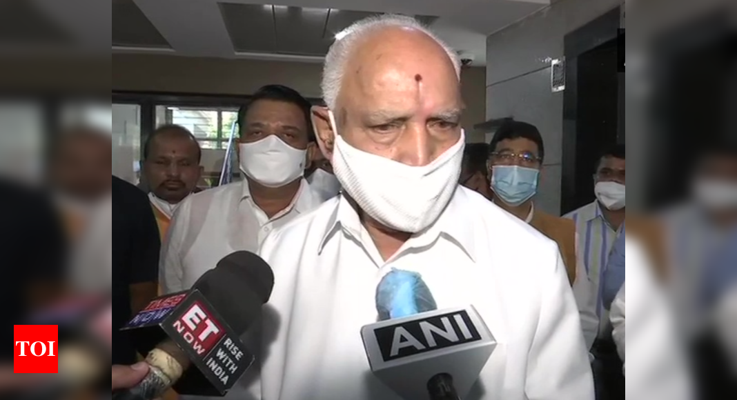 'Not at all': Karnataka CM Yediyurappa dismisses rumours about his resignation   India News – Times of India