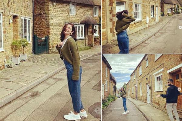 Anushka's cute pics with Virat from London