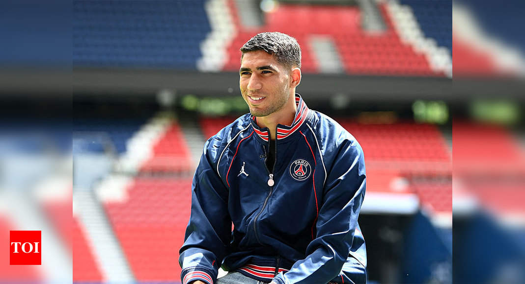 PSG's Achraf Hakimi contracts Covid-19   Football News – Times of India
