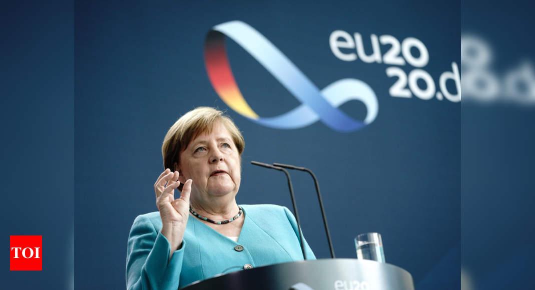Angela Merkel will visit western Germany devastated by floods on Sunday