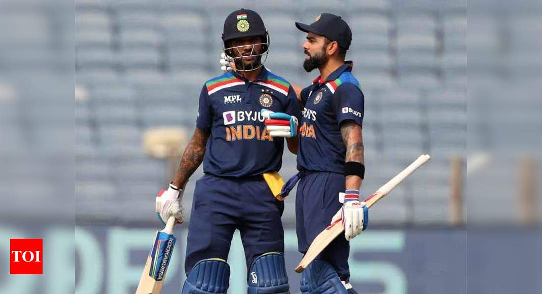 If Virat or Ravi bhai has a player in mind for T20 World Cup, we will check them out: Dhawan | Cricket News – Times of India