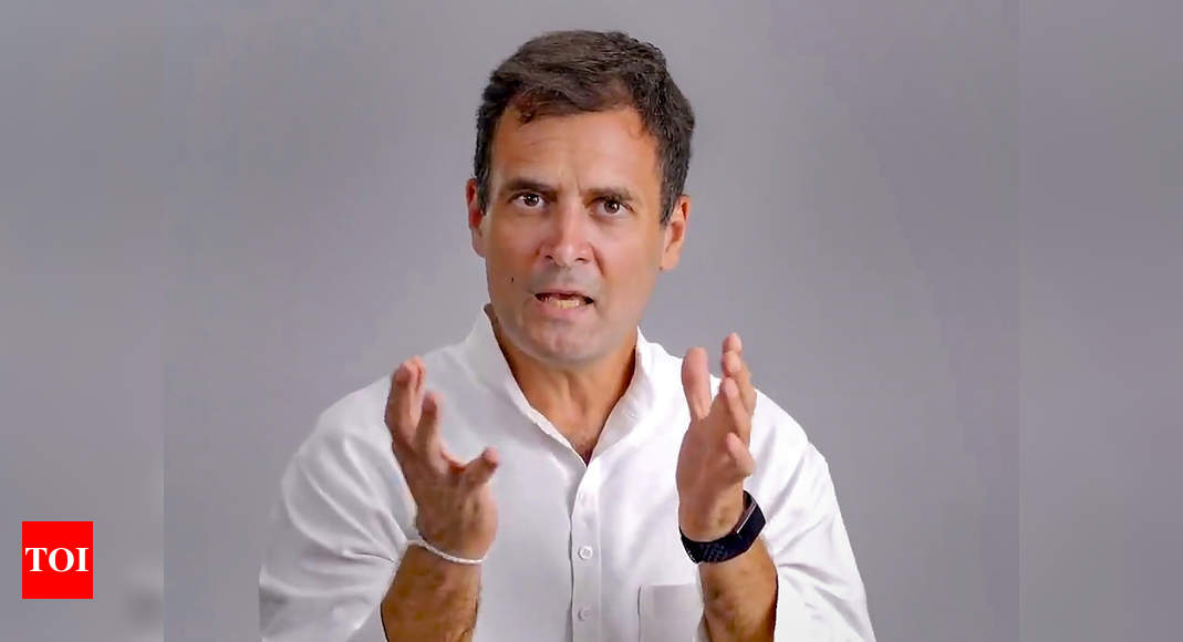 Tax extortion raj prevailing in country: Rahul Gandhi | India News – Times of India