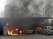 Hyderabad: One injured as fire breaks out at workshop, four cars damaged