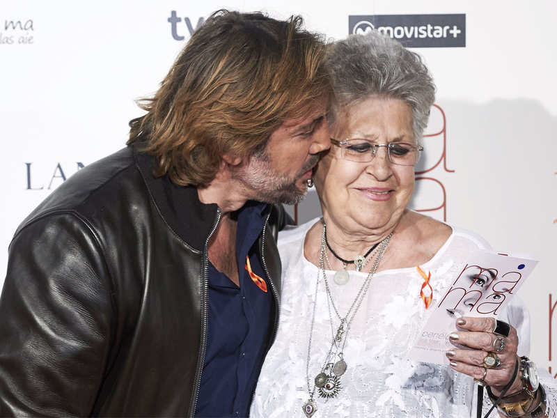 Actor Javier Bardem and actress Pilar Bardem at the premiere of 'Ma Ma' at the Capitol cinema on September 9, 2015 in Madrid, Spain.