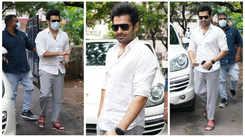Ram Pothineni clicked on the sets of Lingusamy's #RaPo19