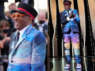 Spike Lee stirs up the Cannes' red carpet in a trippy suit