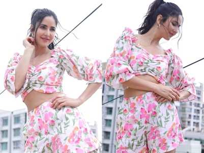 Katrina Kaif in a floral outfit