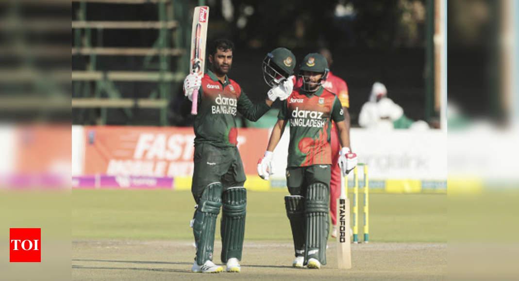 Tamim Iqbal ton guides Bangladesh to ODI series sweep against Zimbabwe | Cricket News – Times of India
