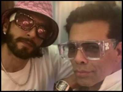 Karan shares a pic with his 'Rocky' Ranveer