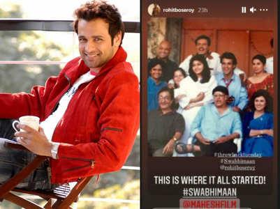 Rohit Roy remembers 'Swabhimaan' days