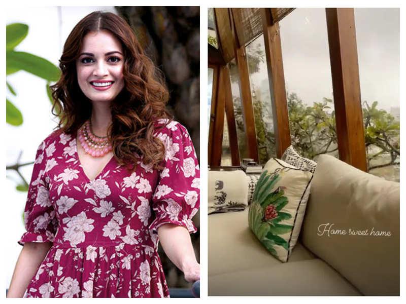 "Dia Mirza shares a glimpse of her ""home sweet home"" as she enjoys the Mumbai rains"