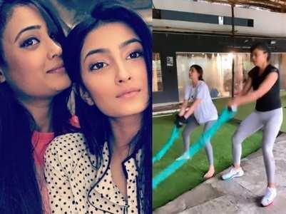 Palak becomes mom Shweta's workout partner