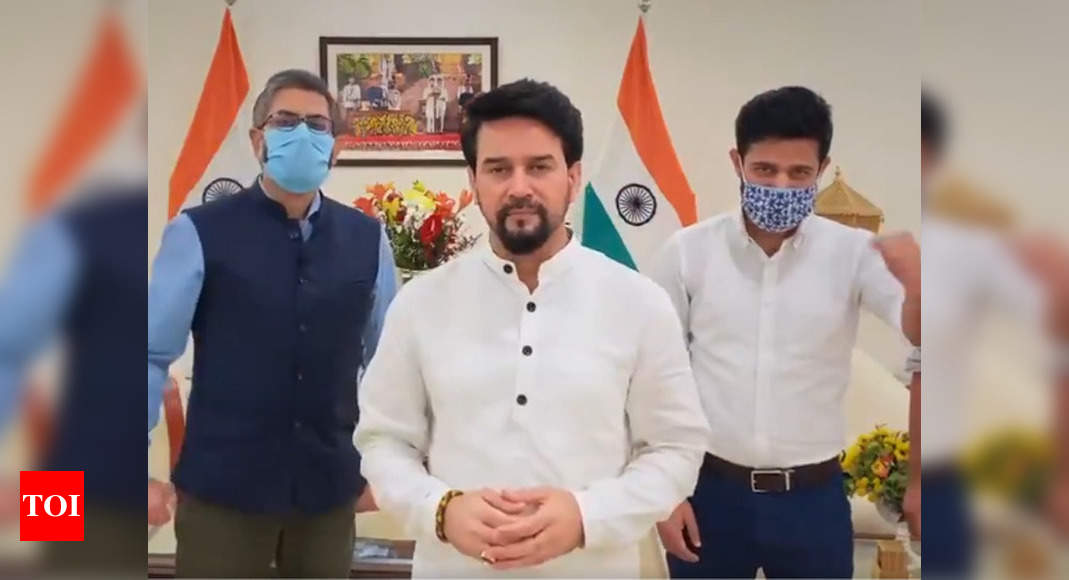 #HumaraVictoryPunch: Anurag Thakur cheers for Indian athletes in Tokyo Olympics | Tokyo Olympics News – Times of India