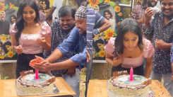 Sakshi Agarwal celebrates birthday on the sets of 'The Night'