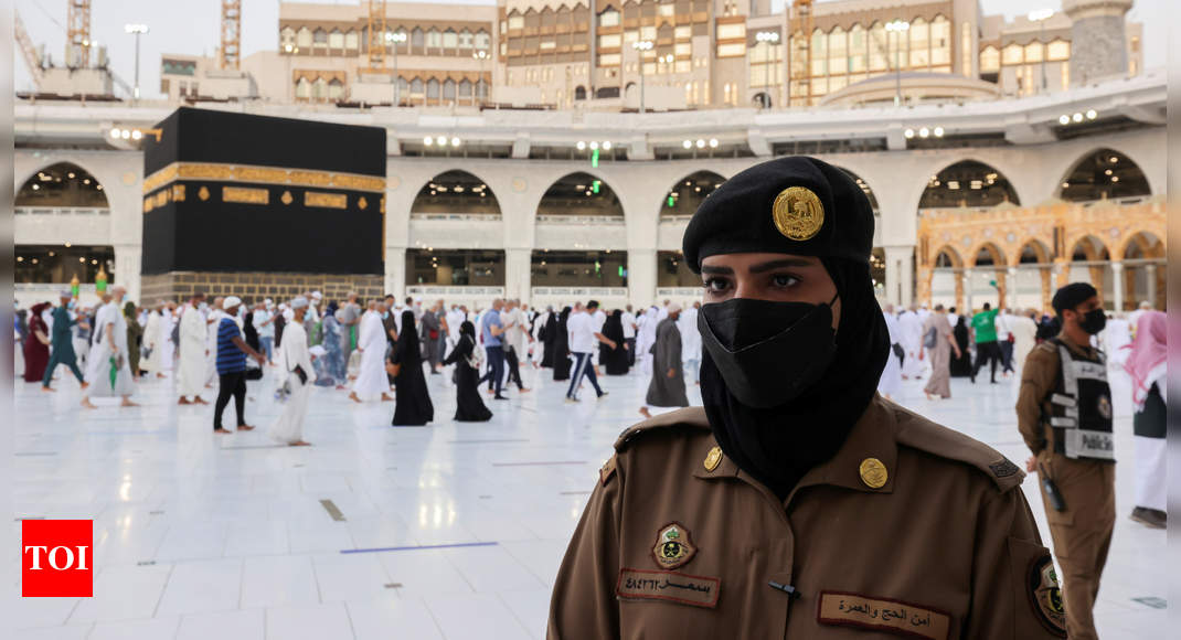 For the first time, Saudi women stand guard in Mecca during haj - Times of India