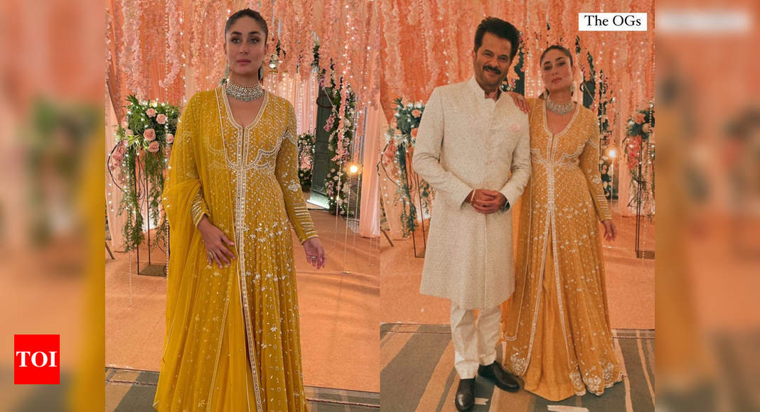 Kareena Kapoor Khan channels her inner diva in this gorgeous bright yellow anarkali – Times of India