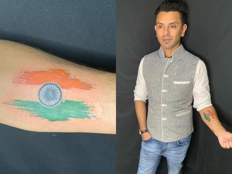 Bigg Boss fame Tehseen Poonawalla gets tattoo of Indian flag on his arm; says, 'My tricolor is what I live for'