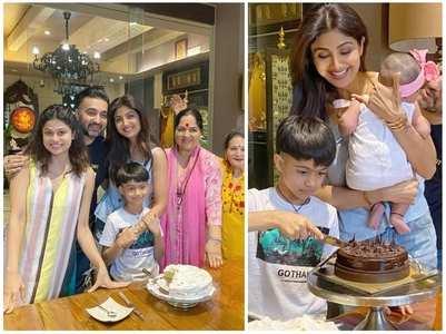 Raj and Shilpa's priceless family moments
